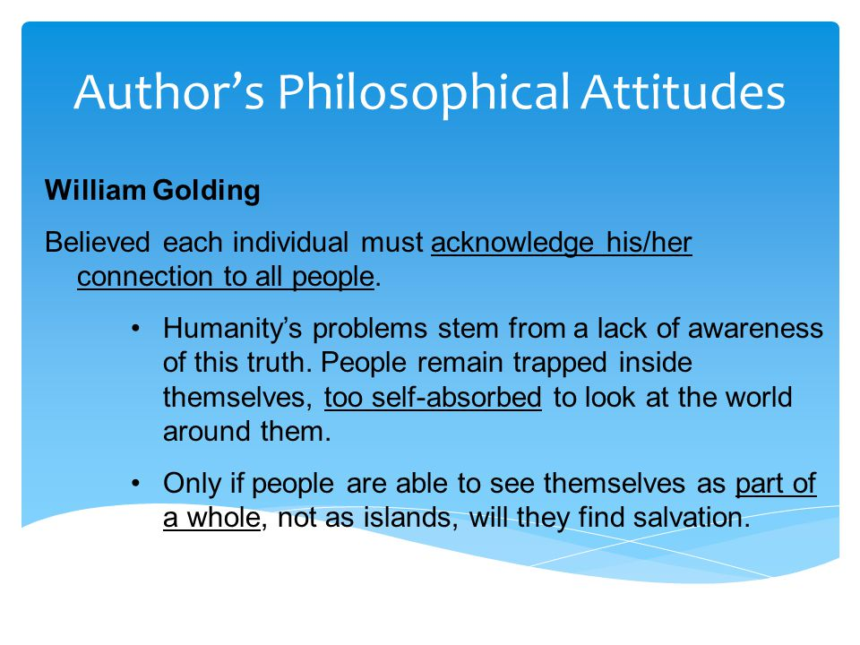 Author's Philosophical Attitudes