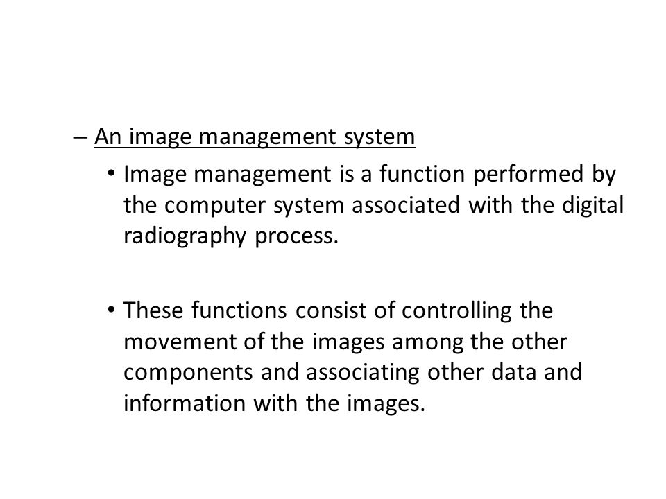 An image management system