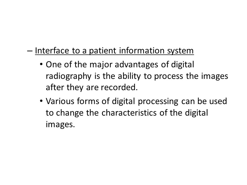 Interface to a patient information system