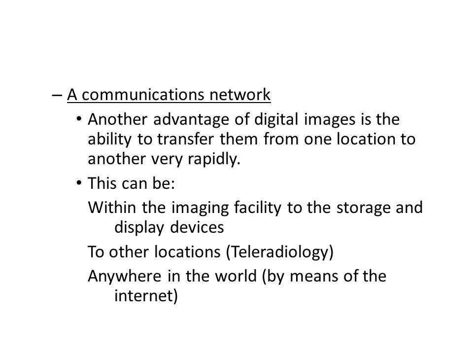 A communications network
