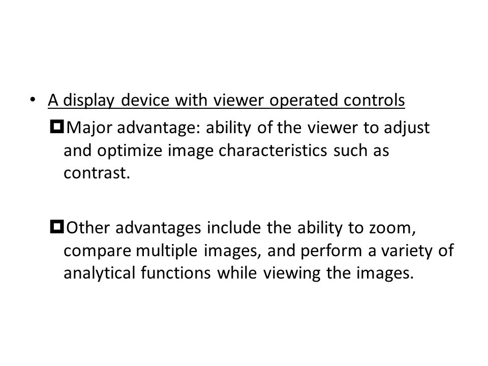 A display device with viewer operated controls