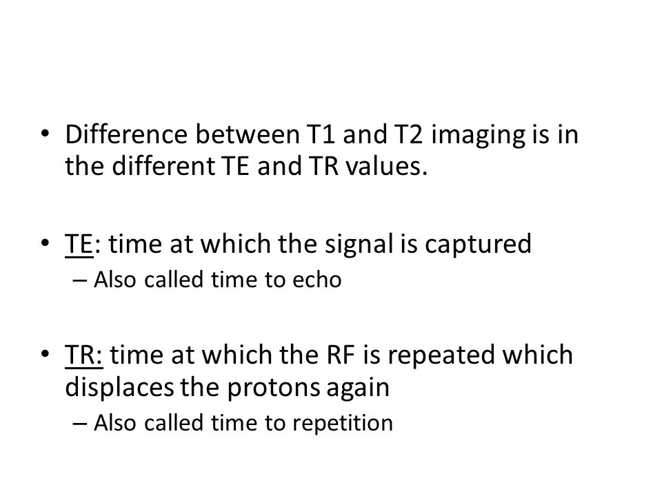 TE: time at which the signal is captured