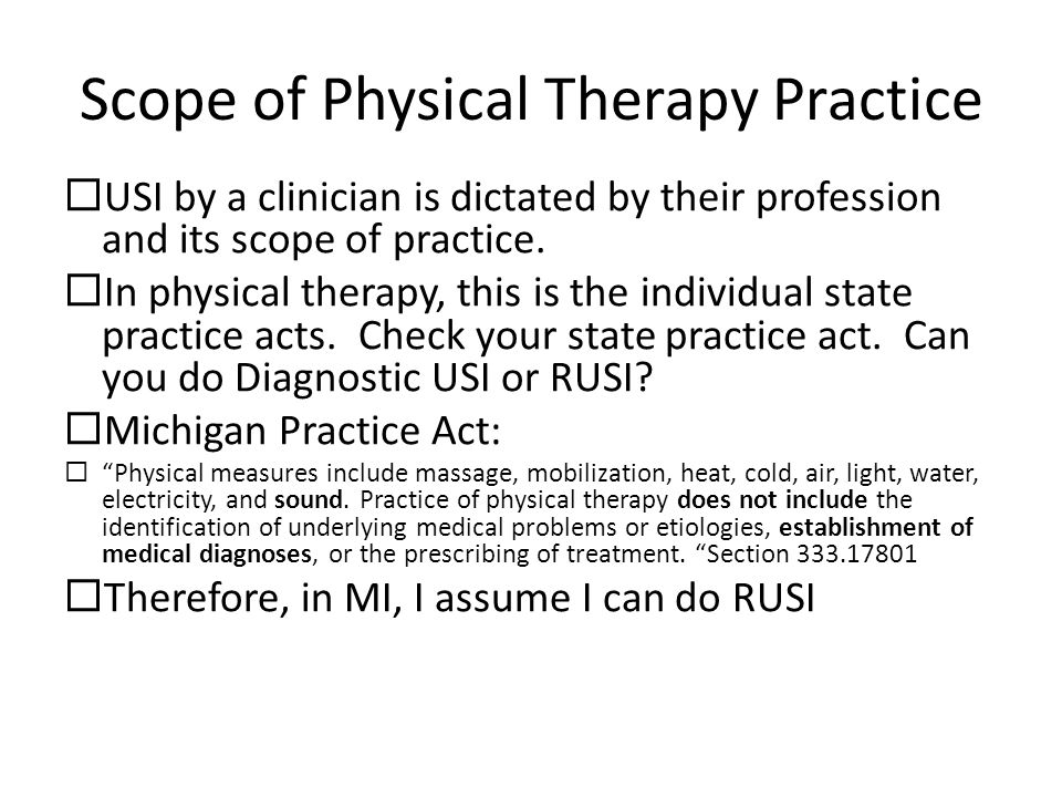 Scope of Physical Therapy Practice