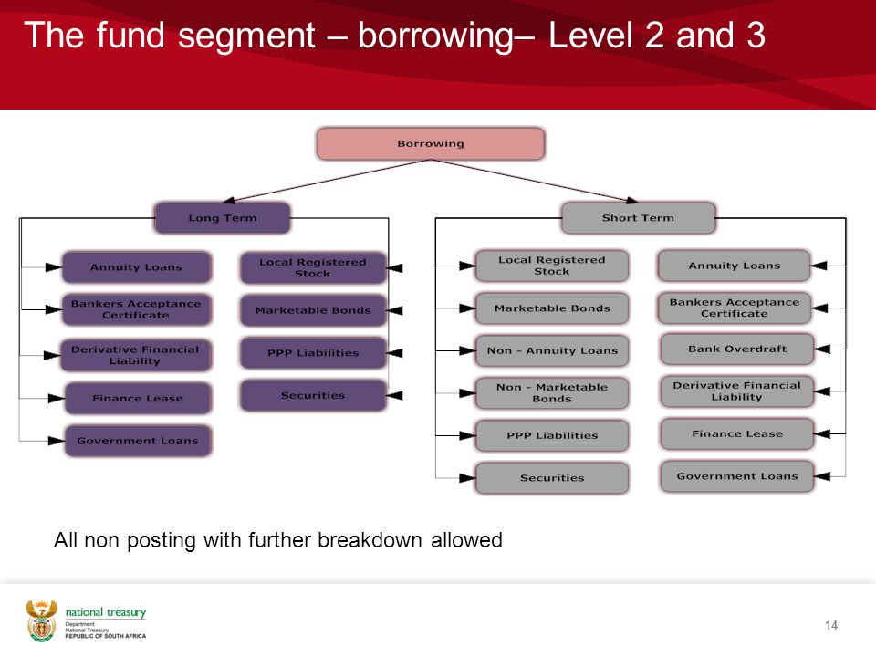The fund segment – borrowing– Level 2 and 3
