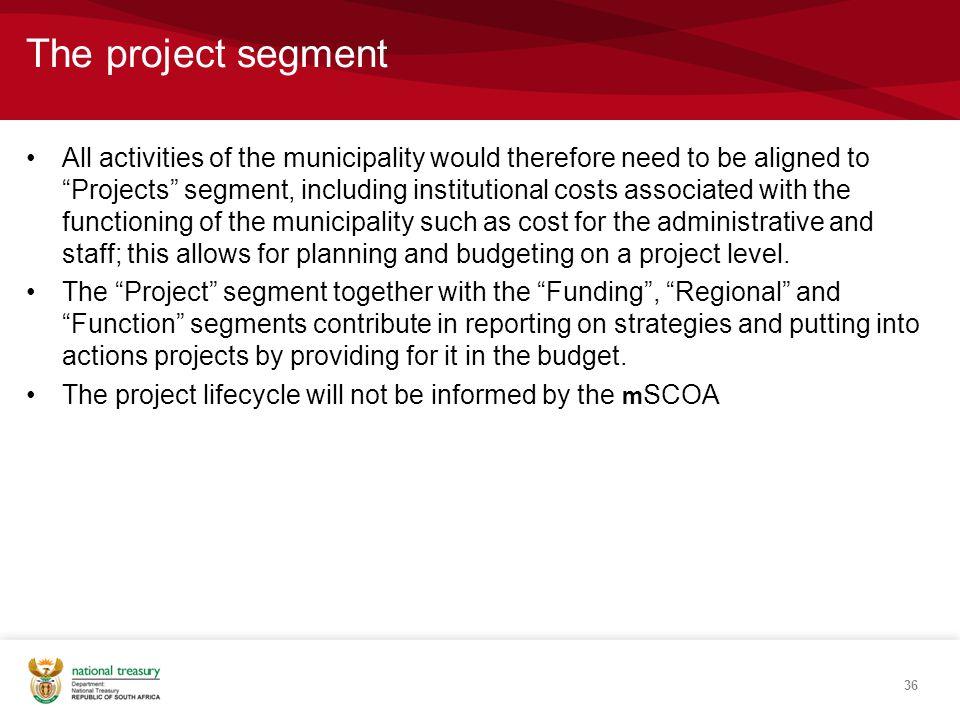 The project segment