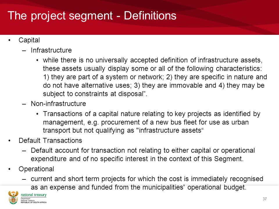 The project segment - Definitions