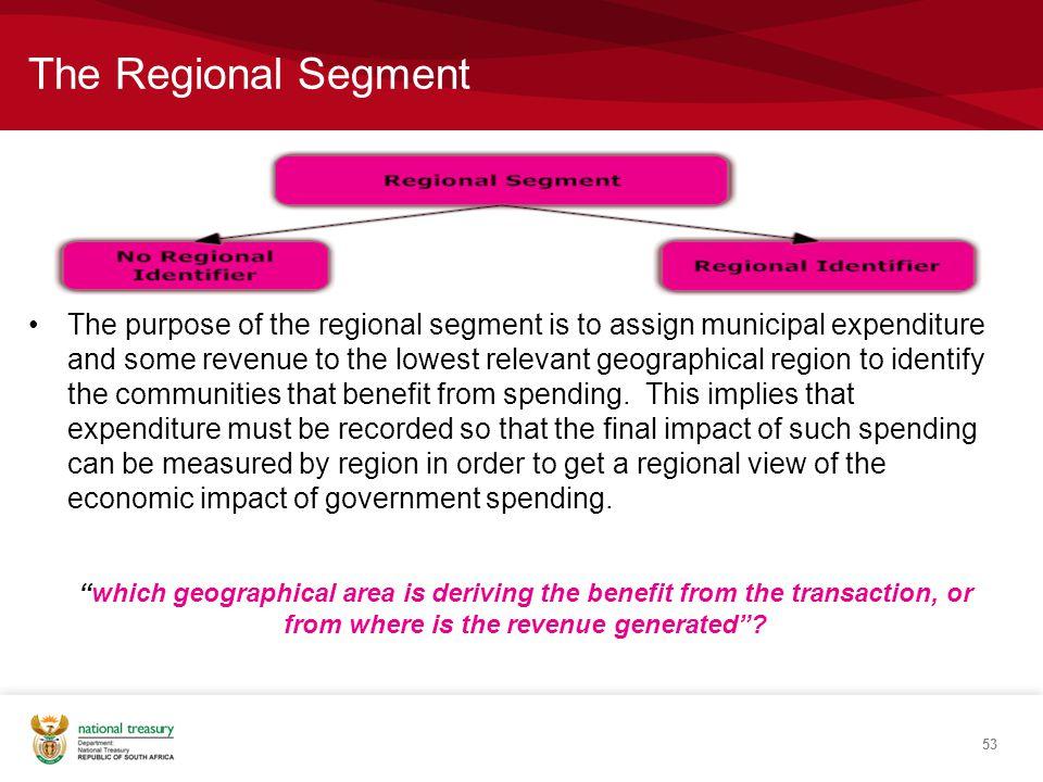 The Regional Segment