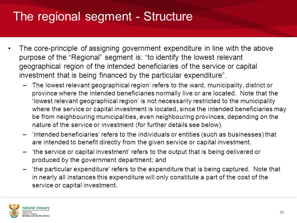 The regional segment - Structure