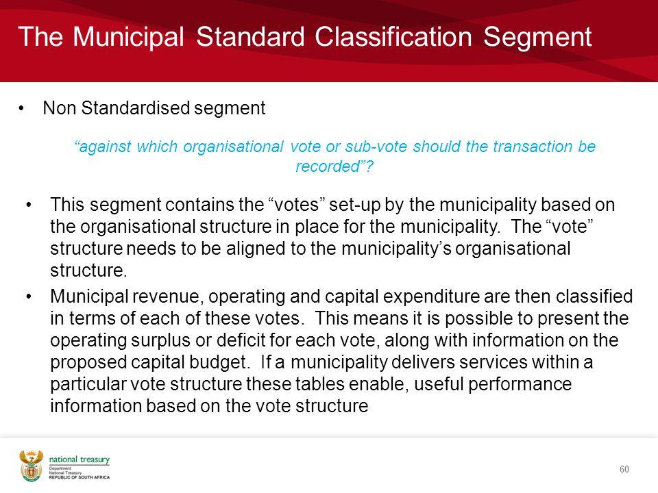 The Municipal Standard Classification Segment
