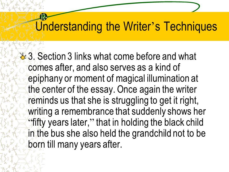 Understanding the Writer's Techniques