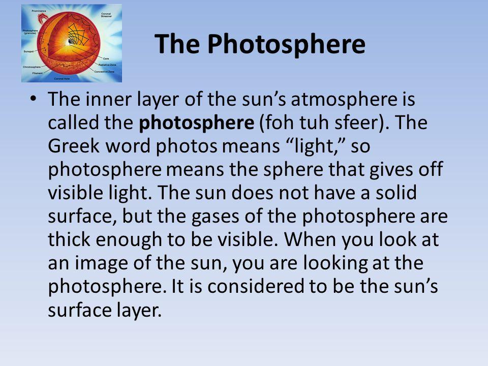 The Photosphere
