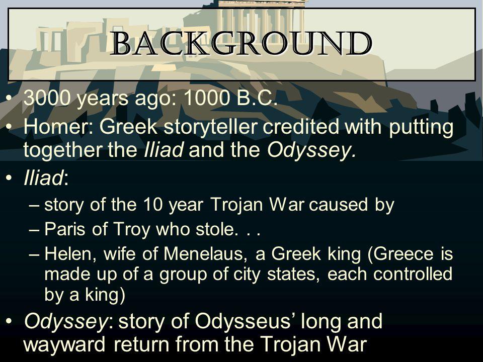 Background 3000 years ago: 1000 B.C.