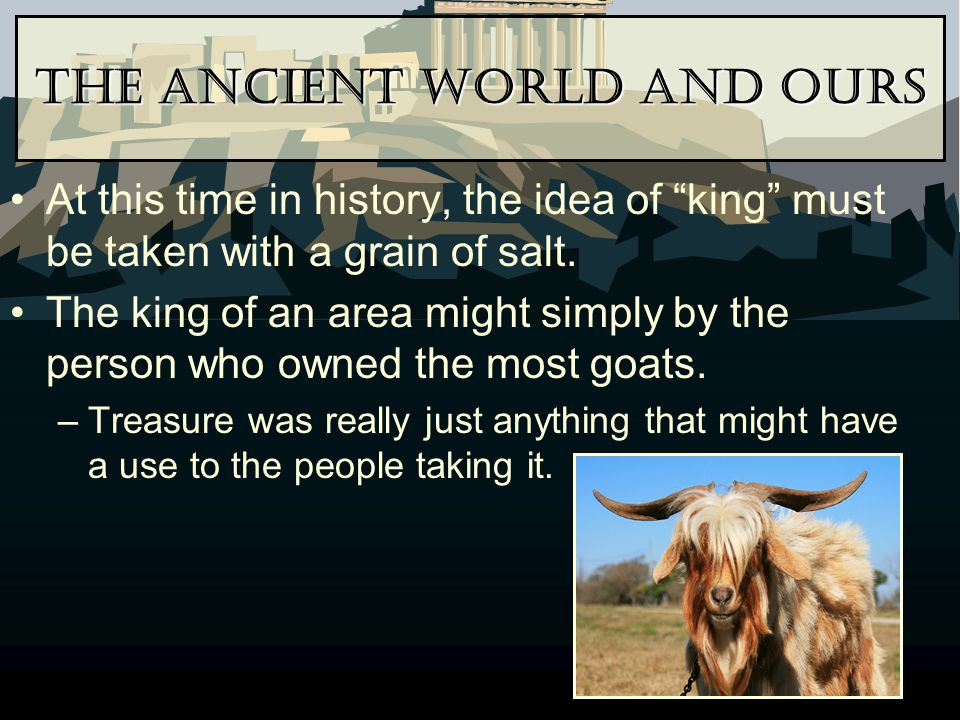 The Ancient World and Ours