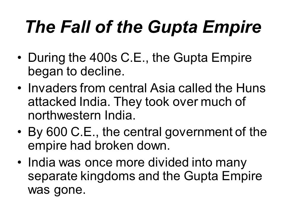 The Fall of the Gupta Empire