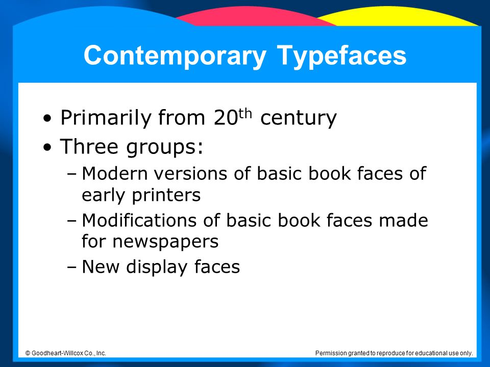 Contemporary Typefaces