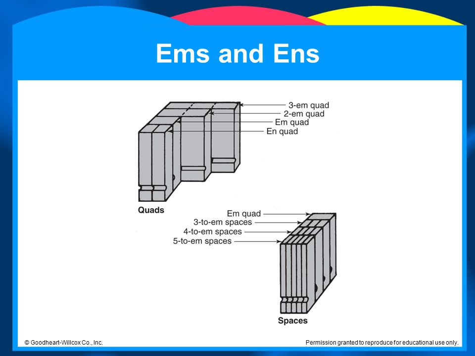 Ems and Ens © Goodheart-Willcox Co., Inc.