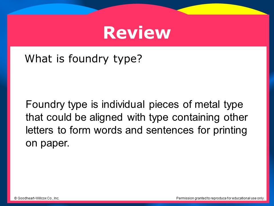 Review What is foundry type