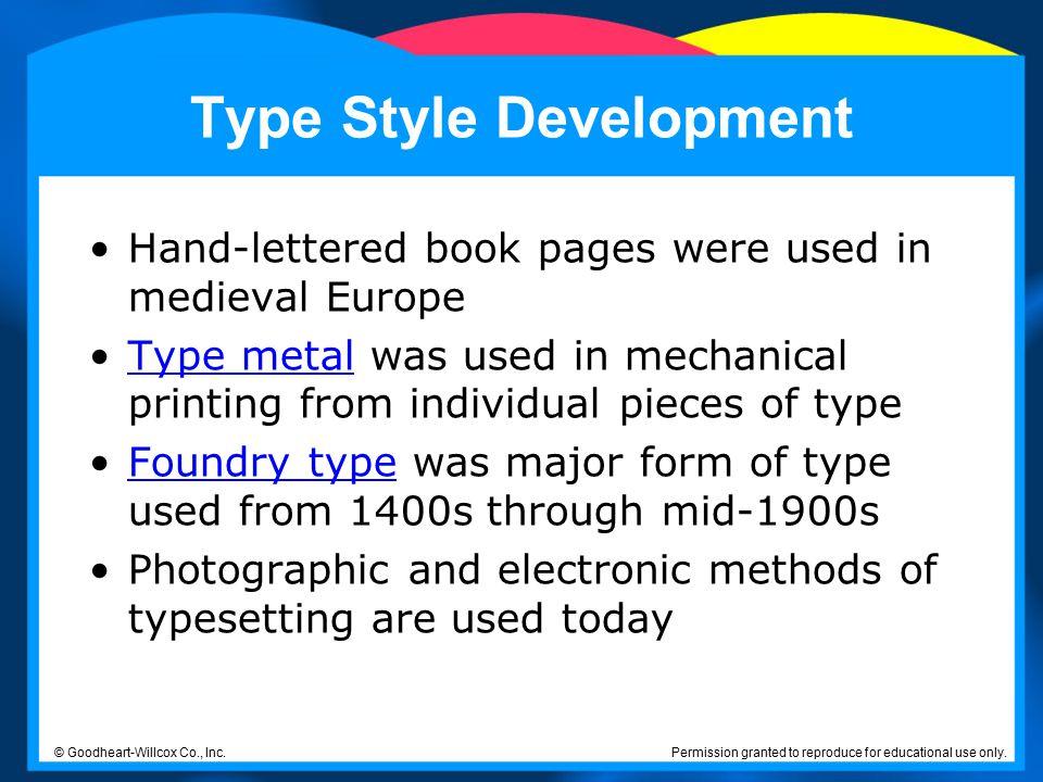 Type Style Development
