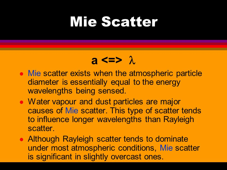 Mie Scatter a <=> 
