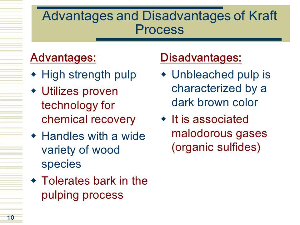 Advantages and Disadvantages of Kraft Process