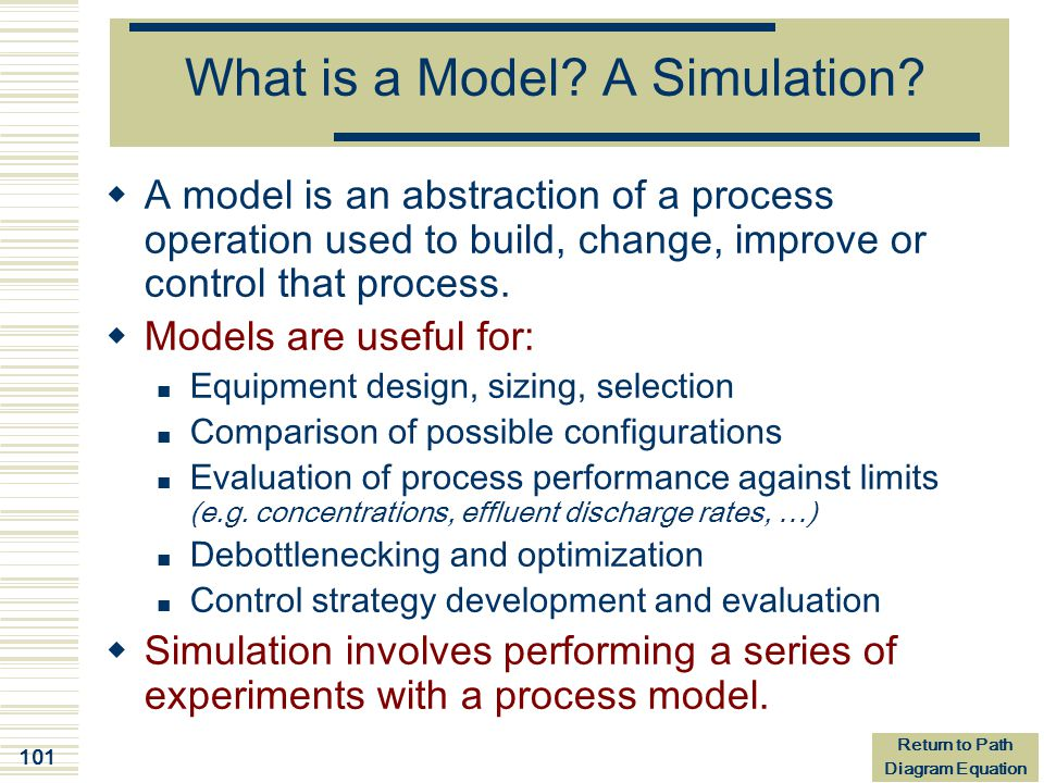 What is a Model A Simulation