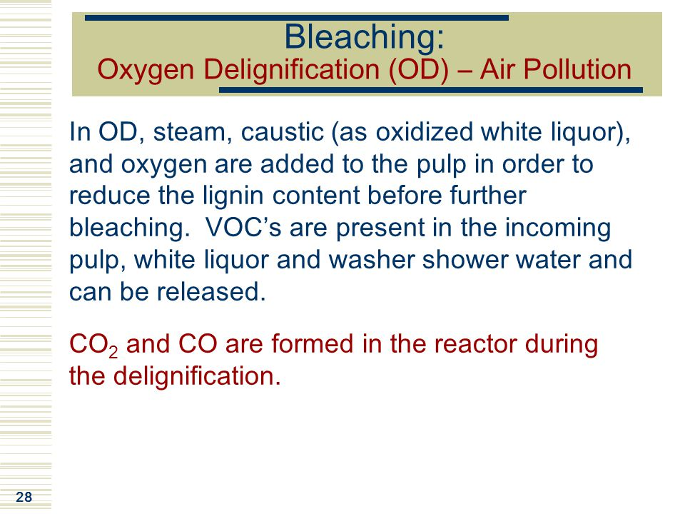 Bleaching: Oxygen Delignification (OD) – Air Pollution