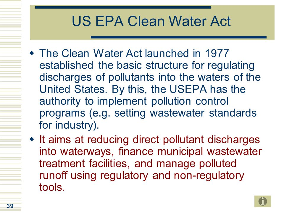 US EPA Clean Water Act