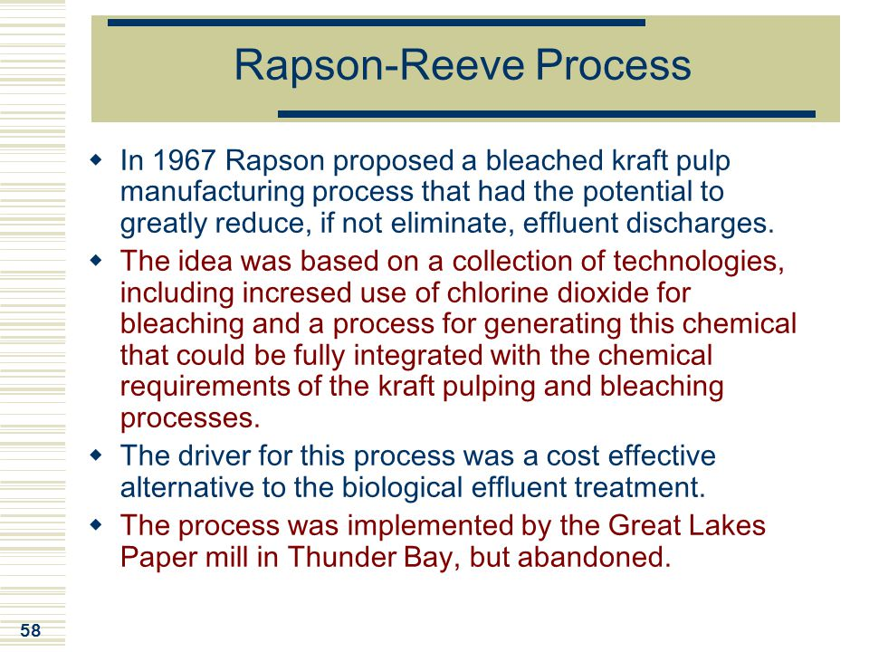 Rapson-Reeve Process