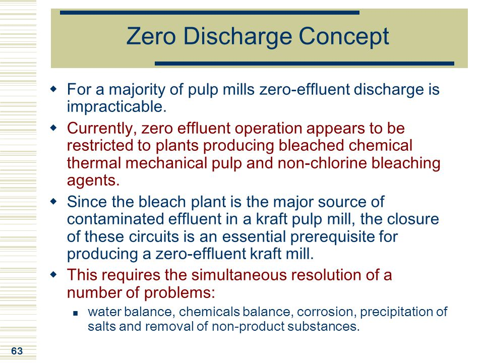 Zero Discharge Concept
