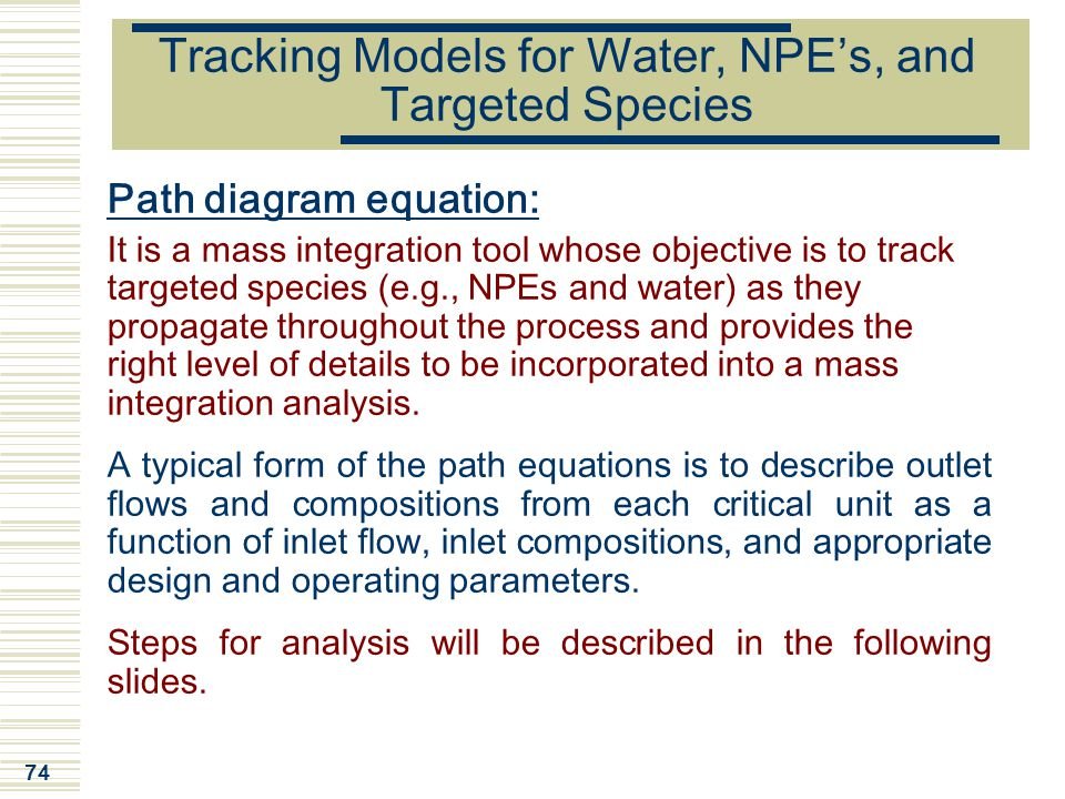 Tracking Models for Water, NPE's, and Targeted Species