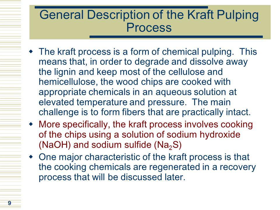 General Description of the Kraft Pulping Process