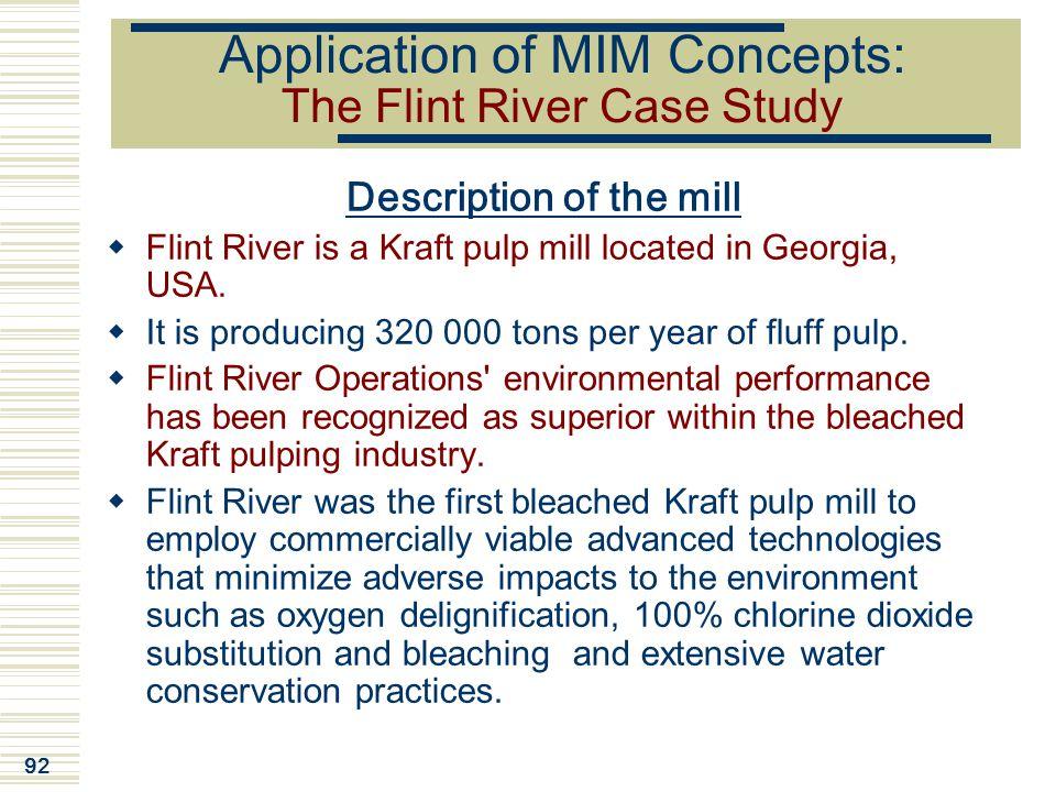 Application of MIM Concepts: The Flint River Case Study