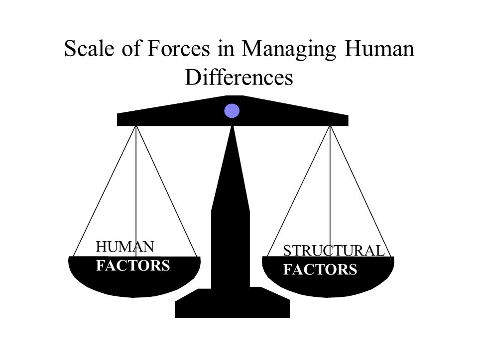 Scale of Forces in Managing Human Differences
