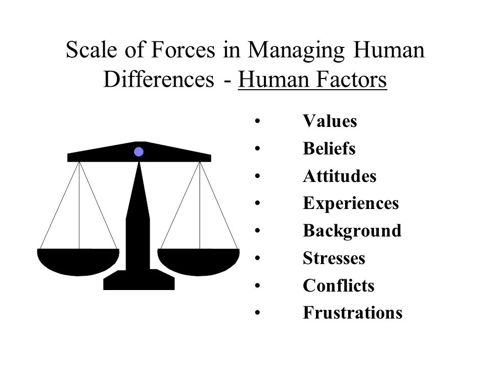 Scale of Forces in Managing Human Differences - Human Factors