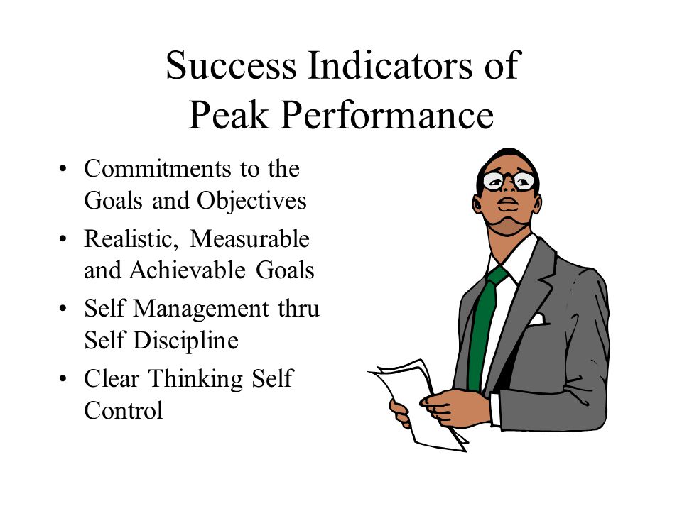 Success Indicators of Peak Performance