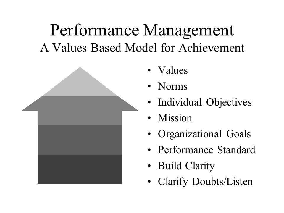 Performance Management A Values Based Model for Achievement