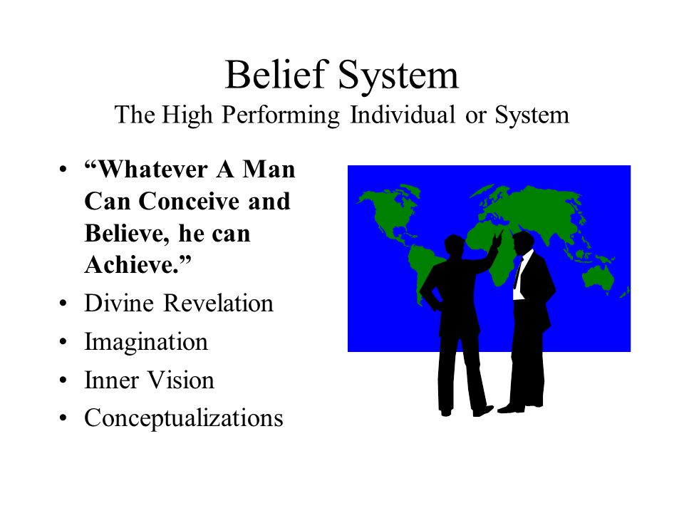 Belief System The High Performing Individual or System