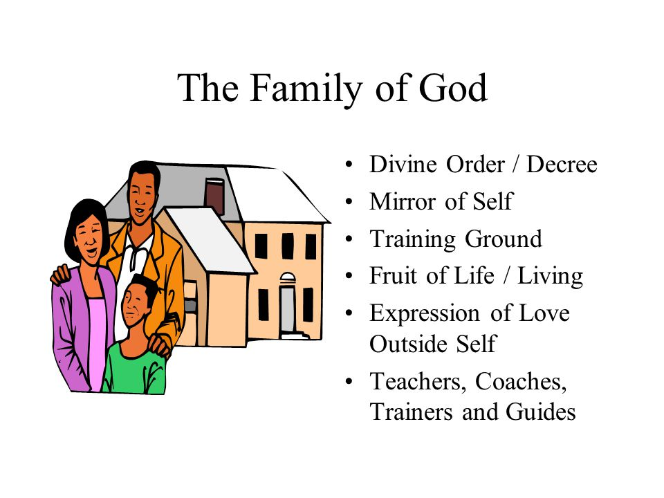 The Family of God Divine Order / Decree Mirror of Self Training Ground