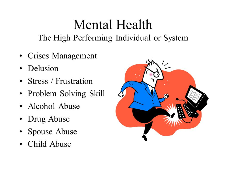 Mental Health The High Performing Individual or System