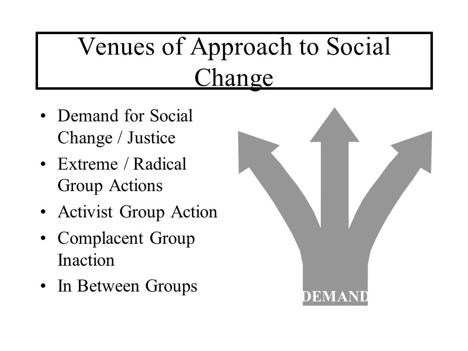 Venues of Approach to Social Change