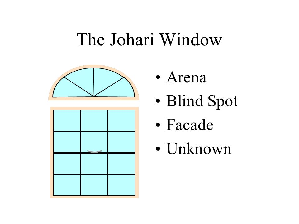 The Johari Window Arena Blind Spot Facade Unknown