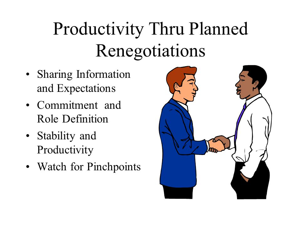 Productivity Thru Planned Renegotiations