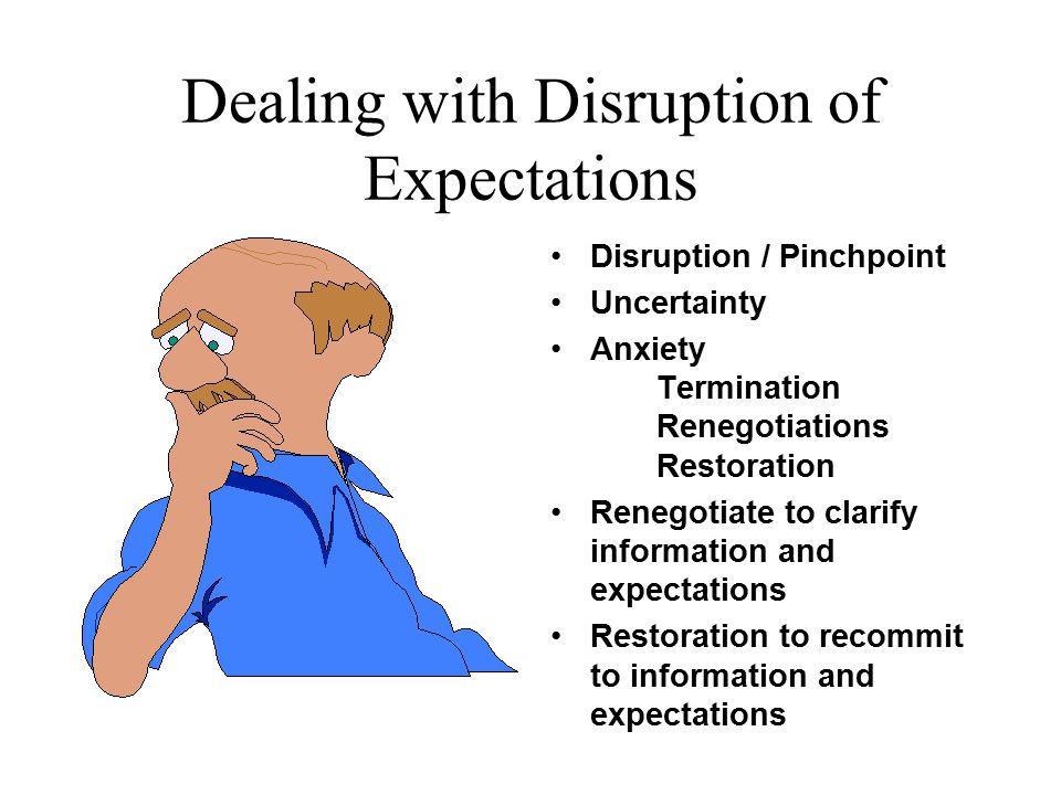 Dealing with Disruption of Expectations