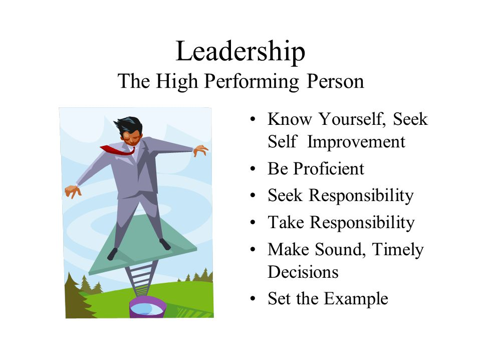 Leadership The High Performing Person