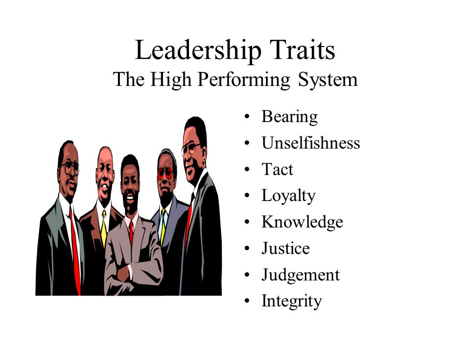 Leadership Traits The High Performing System