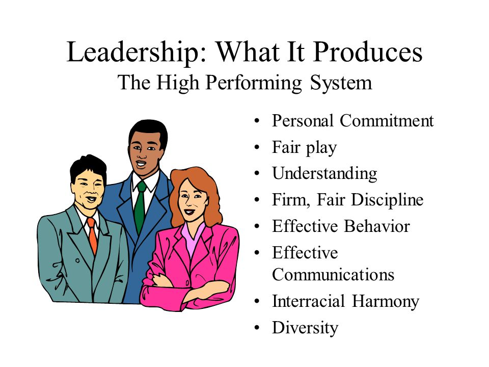 Leadership: What It Produces The High Performing System