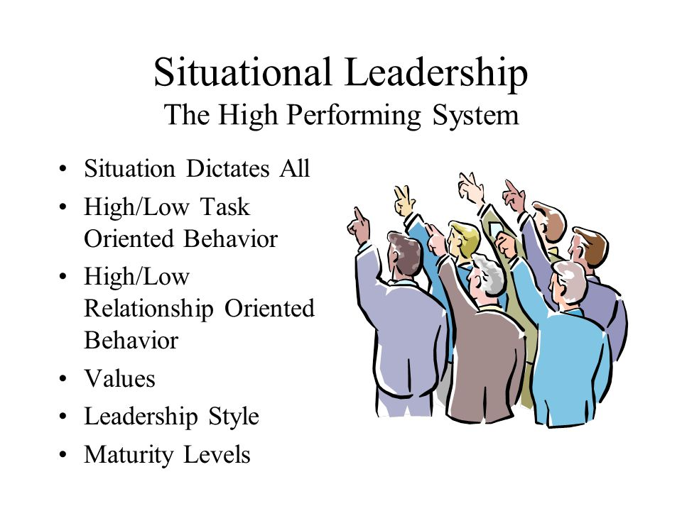 Situational Leadership The High Performing System