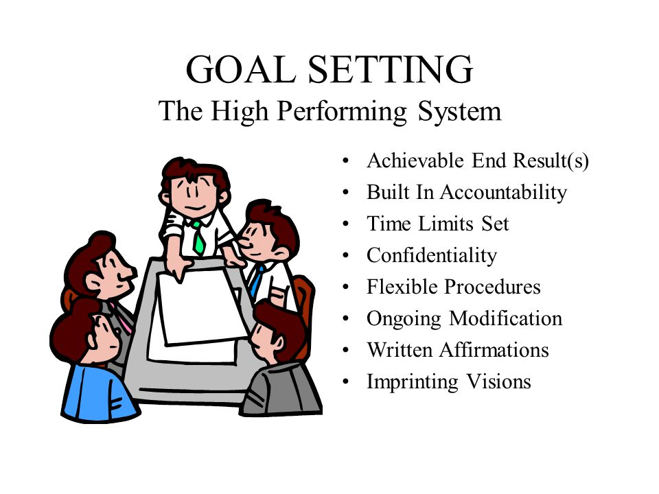 GOAL SETTING The High Performing System
