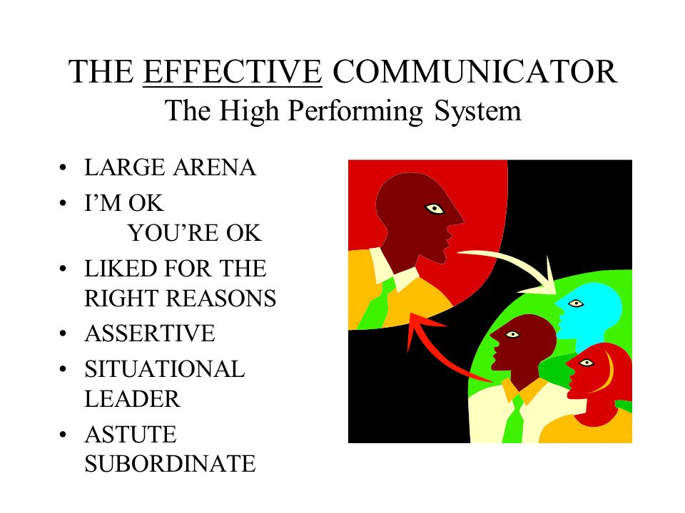 THE EFFECTIVE COMMUNICATOR The High Performing System