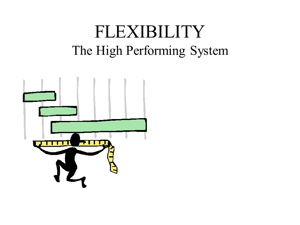FLEXIBILITY The High Performing System